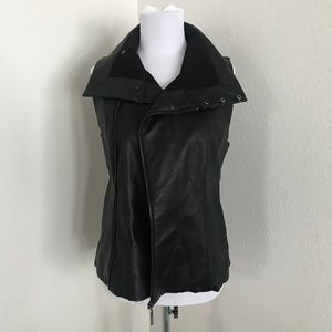 Echo faux leather vest (new with tags) sz s/m